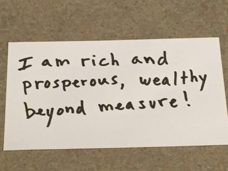 I am rich and prosperous affirmation photo