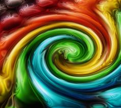 color twirl background generated by the computer