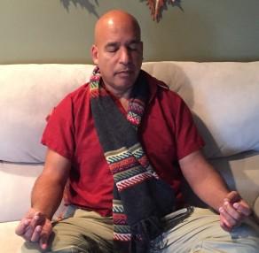 gregory meditating at darleen's 01-22-16