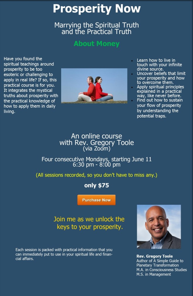 landing page - Prosperity Now course - csl salt lake